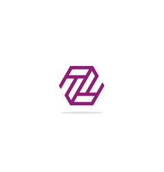 shape line geometry z monogram logo vector image