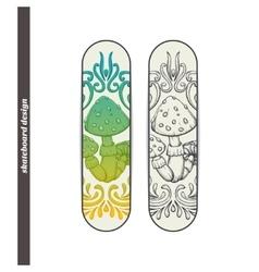 Skateboard Design Abstract Mushroom One vector