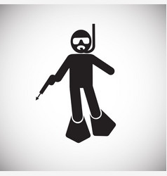 Speargun hunting icon on white background for vector