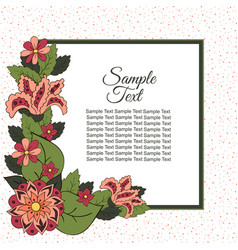 spring postcard cover bright background for vector image