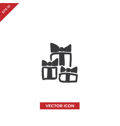 stack gift boxes icon vector image