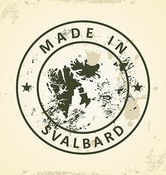 Stamp with map of Svalbard vector