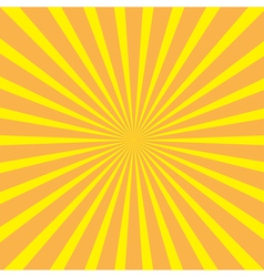 Sunburst with ray light template yellow and ora vector