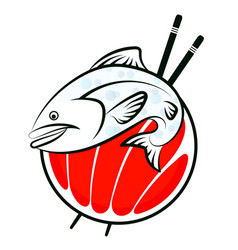 Sushi fish vector