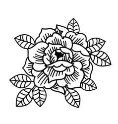 tattoo rose flowertattoo mystic symbol isolated vector image