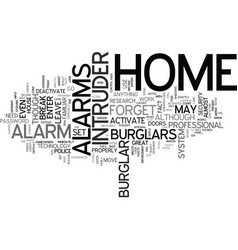 The cons of home intruder alarms text background vector