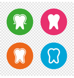 tooth enamel protection icons dental care signs vector image