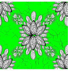 traditional classic green pattern on background vector image