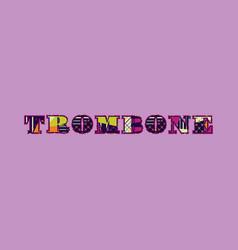 Trombone concept word art vector