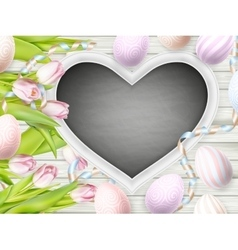 Tulips and decorative eggs EPS 10 vector