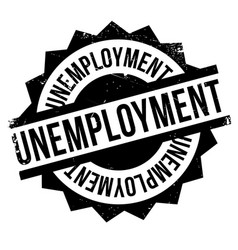 unemployment rubber stamp vector image