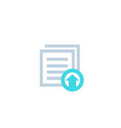 Upload documents files vector