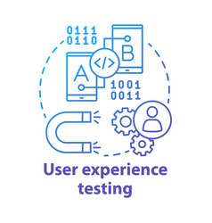 User experience testing concept icon ux software vector