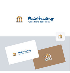villa logotype with business card template vector image