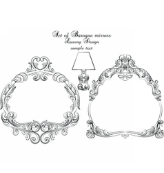 Vintage set of baroque royal frames vector