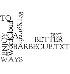 Ways to better enjoy a barbecue text word cloud vector