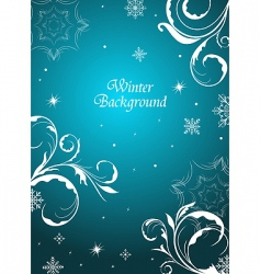 winter floral background vector image
