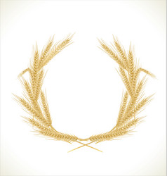 Wreath wheat vector