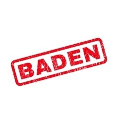 Baden Rubber Stamp vector image vector image