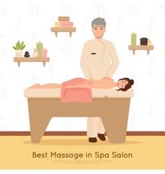 Beauty salon spa people vector