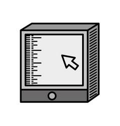 Computer screen technology image vector