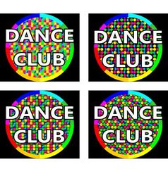 Dance club logo concept vector image vector image