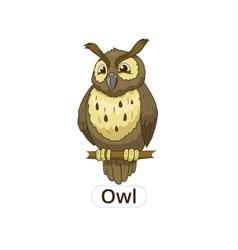 Forest owl bird cartoon vector image vector image