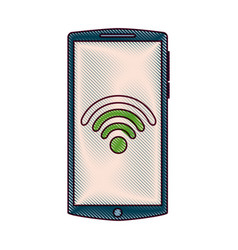 mobile phone gadget wifi internet screen vector image vector image