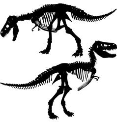 T rex skeleton vector