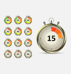 timers countdown vector image vector image