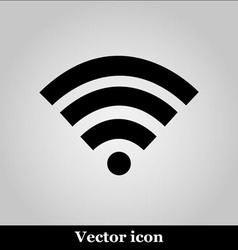 Wi fi icon on grey background vector image vector image