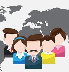 world business people teamwork cartoon vector image