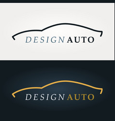 automotive icon car silhouette vector image vector image