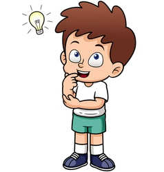 Boy with idea vector image vector image