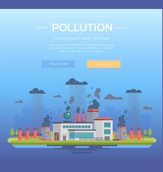 Pollution - modern flat design style vector