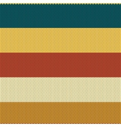 Striped Coloured Knitted Backround vector image vector image