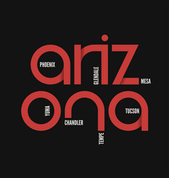 arzona state t-shirt and apparel design vector image vector image