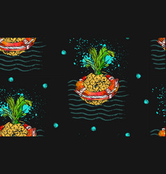 hand drawn abstract tropical seamless vector image vector image