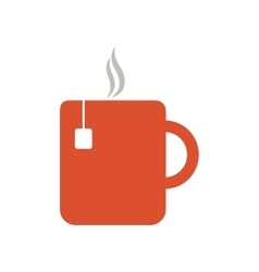 Mug tea hot drink office vector