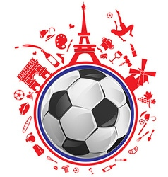 soccer ball with france symbol vector image