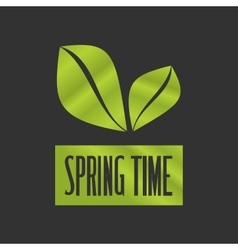 Spring time on a black backgorund vector