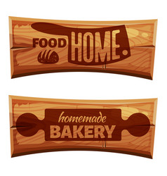 cartoon bakery labels vector image vector image