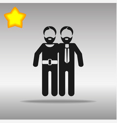 gay black icon button logo symbol concept vector image vector image
