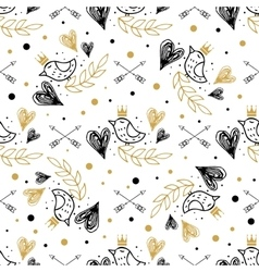 Romantic seamless pattern for valentines day vector image vector image