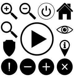 Web icons set Flat style vector image