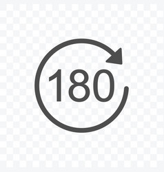 180 degrees rotation icon isolated on transparent vector image