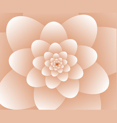 3d abstract orange floral spiral background vector image