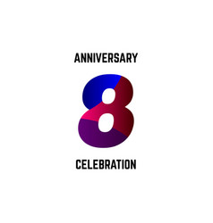 8 year anniversary celebration logo template vector