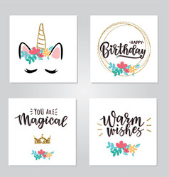a magical cards set vector image