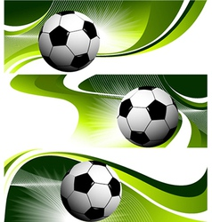 Abstract football banners vector image vector image